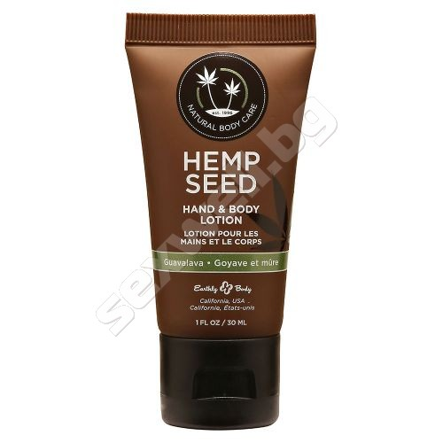 Body lotion with hemp seed oil Guavalava