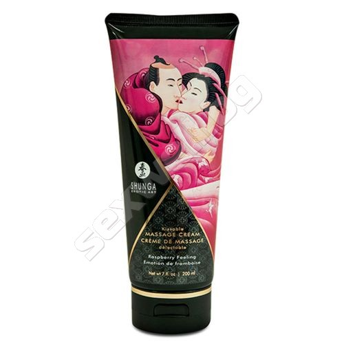 Kissable massage cream raspberry feeling