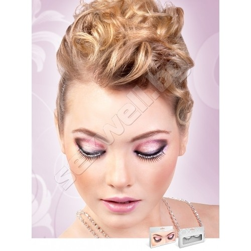 BLACK-WHITE RHINESTONE EYELASHES 573