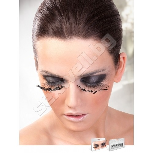 BLACK FEATHER EYELASHES 608