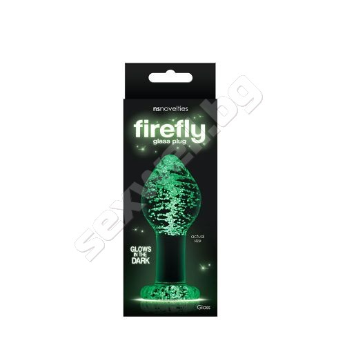 Butt plug large, firefly glass