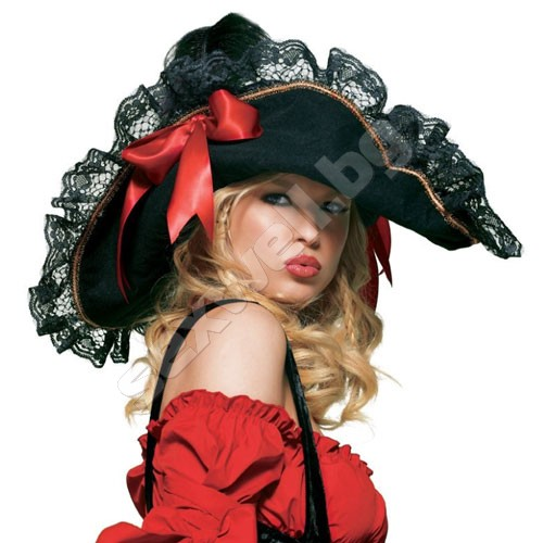 Women's Swashbuckler Hat BLK/RED