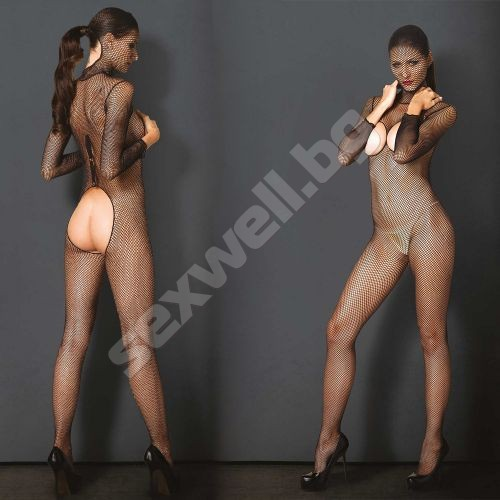 Hooded Fishnet Bodystocking