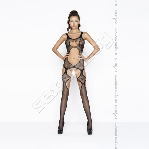 Crotchless bodystocking with openings