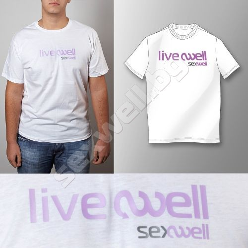 White t-shirt live well M for men