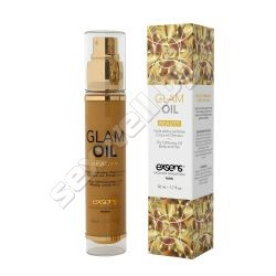 Glittering body and hair glam oil Exsens