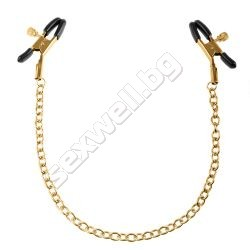 Chain nipple clamps Fetish Fantasy Gold