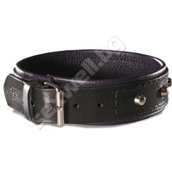 Collar with spikes JOAN, leather