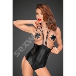 Wetlook body with velvet multistraps