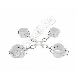 Leather hand and leg cuffs