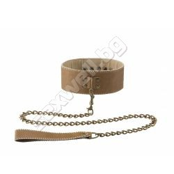 Collar with leash, premium leather