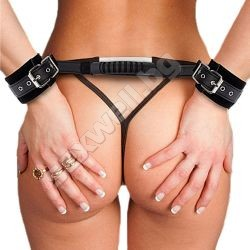 Adjustable Leather Handcuffs