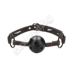 Breathable Ball Gag - With Roughend Deni