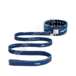 Denim Collar - With Leash - Roughend Den
