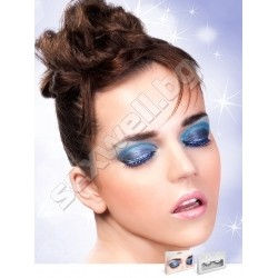 BLACK-BLUE RHINESTONE EYELASHES
