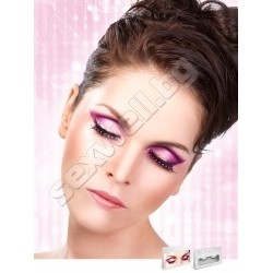 BLACK-PURPLE RHINESTONE EYELASH