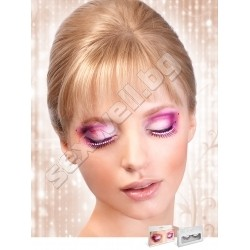 BLACK- ROSE RHINESTONE EYELASHES