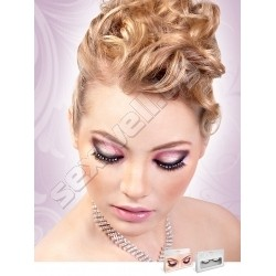 BLACK-WHITE RHINESTONE EYELASHES 582