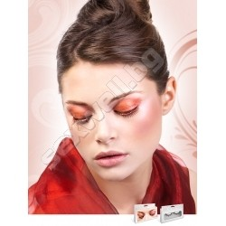 BLACK-RED RHINESTONE EYELASHES