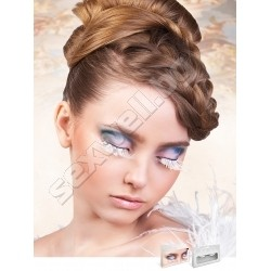 WHITE FEATHER EYELASHES 599
