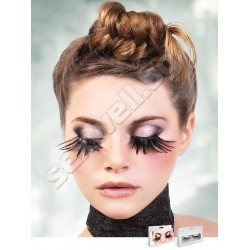 BLACK FEATHER EYELASHES 611