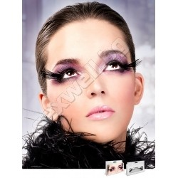 BLACK FEATHER EYELASHES 642