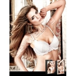 Lace bra with underwire white
