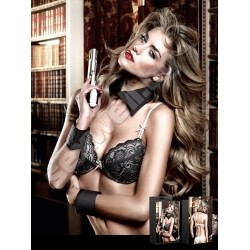 Padded Underwire Bra with Black Lace