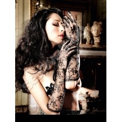 Long Flower Lace Evening Gloves 971