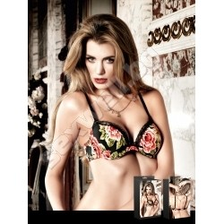 Underwire Bra with Lavish Flower Pattern