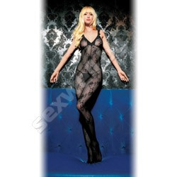 Boudoir Rose Lace Bodystocking With Scal