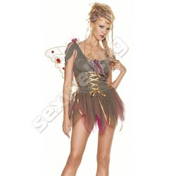 Garden Fairy Dress With Silk Flowers And