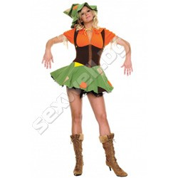 Cute Scarecrow costume L