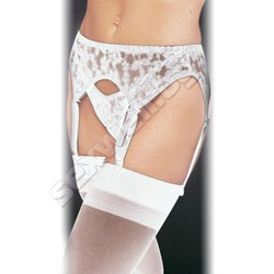 Lace garter belt with thong set