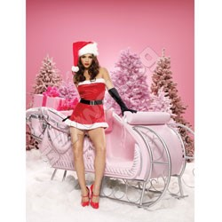 Holiday Santa velvet set S/M