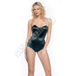 Strapless teddy with boning