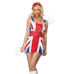 British Flag Tank Dress RED/WHITE/BLUE X