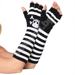 Acrylic elbow length fingerless gloves,