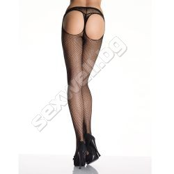 Thong fishnet pantyhose
