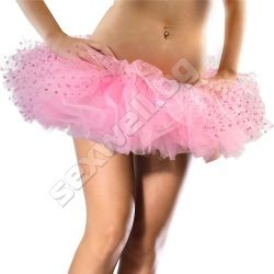 Tulle tutu with flocked polka dot