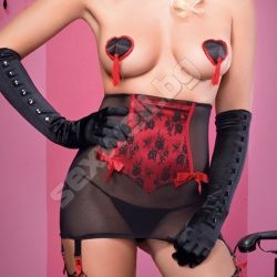 Satinmesh glamour girdle and G-string