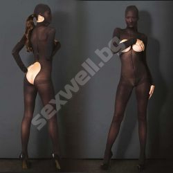 Hooded Opaque Bodystocking