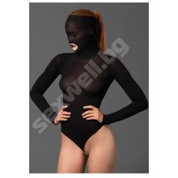 Opaque masked teddy with beaded g-string