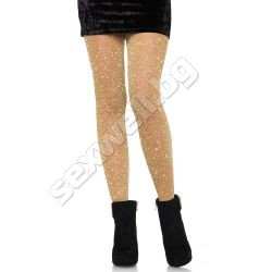 Lurex sheer pantyhose