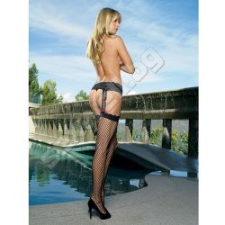 Industrial net garter belt stockings wit