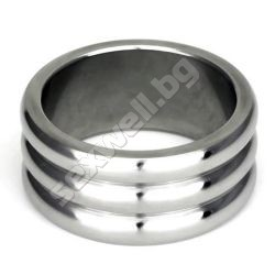 Stainless Steel Cock Ring with Grooves