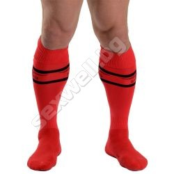 Mens socks, red
