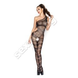 Crotchless bodystocking, one shoulder