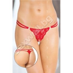 Crotchless G-string with two straps