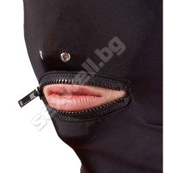 Head mask with a zip
